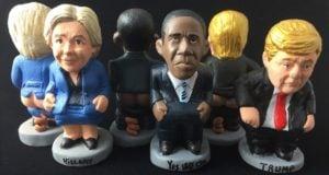 26 09 2016 Foto de los caganers de Hillary Owama y Trump