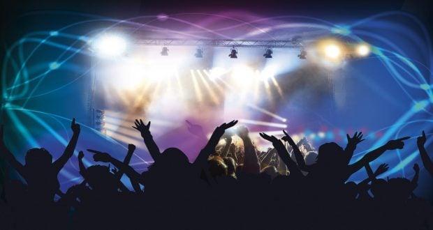 Nighttime concert